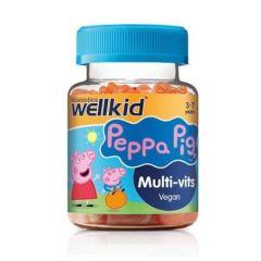 VitaBiotics Wellkid Peppa Pig Multi-Vits Мултивитамини с вкус на ягода за деца 30 желирани таблетки