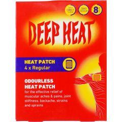 Deep Heat Pain Relief Обезболяващ и загряващ пластир за гръб 4 бр The Mentholatum Company