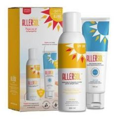 Allersol Слънцезащитен спрей SPF 30 200 мл + Allersol Слънцезащитен крем SPF 30 100 мл Naturpharma Комплект