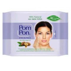 Pom Pon Eyes & Face Почистващи мокри кърпи за грим с арганово масло х20 бр