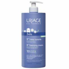 Uriage Bebe 1er Нежен пенлив душ-крем за бебета и деца за лице, тяло и коса с органичен еделвайс 1000 мл