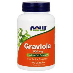 Now Foods Graviola Гравиола 500 мг х 100 капсули