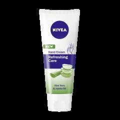 Nivea Refreshing Care Хидратиращ крем за ръце с алое и масло от жожоба 75 мл