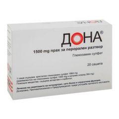Дона за лечение на остеоартрит 1500 мг 20 сашета MEDA Pharma