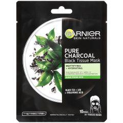 Garnier Skin Naturals Pure Charcoal Черна шийт маска за мазна и склонна към лъщене кожа 28 грама
