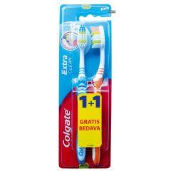 Colgate Extra Clean четка за зъби 1+1 бр