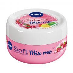 Nivea Creme Soft Mix Me Raspberry Хидратиращ универсален крем за лице, ръце и тяло 100 мл