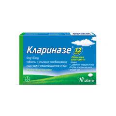 Клариназе при сенна хрема и простуда 5 мг/120 мг x 10 таблетки с удължено освобождаване Bayer
