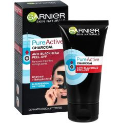 Garnier Skin Naturals Pure Active Charcoal Маска за лице против черни точки и омазнена кожа 50 мл
