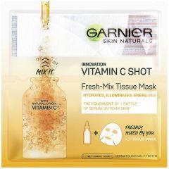 Garnier Skin Naturals Vitamin C Shot Енергизираща и озаряваща шийт маска за лице с витамин C 1 брой