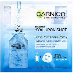 Garnier Skin Naturals Hyaluronic Shot Изглаждаща шийт маска за лице с хиалуронова киселина 1 брой