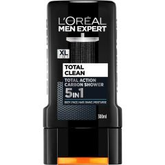 L'Oreal Men Expert Total Clean 5in1 Carbon Душ-гел за мъже 5в1 300 мл