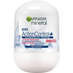 Garnier Action Control + 96h Рол-он против изпотяване за жени 50 мл