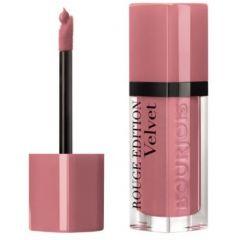 Bourjois Rouge Edition Velvet Lipstick Дълготрайно матиращо течно червило N09 Happy Nude Year 7,7 мл