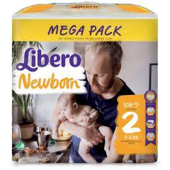 Пелени Libero Newborn Размер 2 108 бр