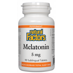 Natural Factors Melatonin Мелатонин при безсъние 5 мг х 90 таблетки