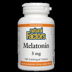 Natural Factors Melatonin Мелатонин при безсъние 5 мг х 180 таблетки