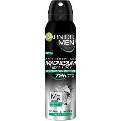 Garnier Men Magnesium Ultra Dry 72h Део спрей против изпотяване за мъже 150 мл
