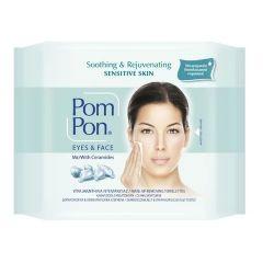 Pom Pon Eyes & Face Почистващи мокри кърпи за грим за чувствителна кожа х20 бр