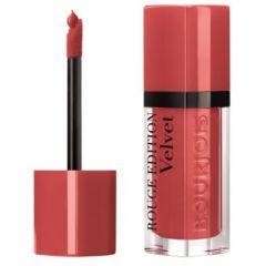 Bourjois Rouge Edition Velvet Lipstick Дълготрайно матиращо течно червило N04 Peach Club 7,7 мл