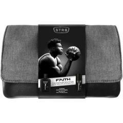 STR8 Faith EDT Тоалетна вода за мъже 100 мл + STR8 Faith Дезодорант спрей за мъже 150 мл + Козметичен несесер Комплект