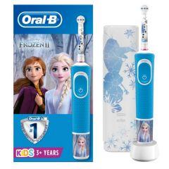 Oral-B D100 Vitality Frozen Електрическа четка за зъби за деца 3+ години + Ексклузивна кутийка за път Procter & Gamble Комплект