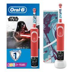 Oral-B D100 Vitality Star Wars Електрическа четка за зъби за деца 3+ години + Ексклузивна кутийка за път Procter & Gamble Комплект