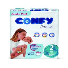 Confy Premium Размер 2 Mini Jumbo Pack 80 бр