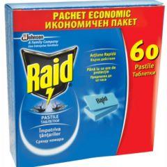 Raid Ламинирани таблетки срещу комари за електрически изпарител 60 бр SC Johnson