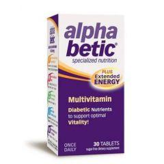 Alpha betic Мултивитамини при диабет и преддиабетно състояние 30 таблетки Enzymatic Therapy