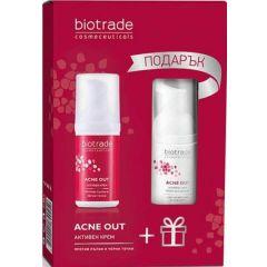 Biotrade Acne Out Активен крем против акне 30 мл + Biotrade Acne Out Измивна пяна за акнеична кожа 20 мл Комплект