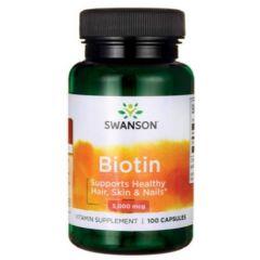 Swanson Biotin Биотин за косата, кожата и ноктите 100 капсули