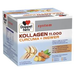 Doppelherz System Collagen 11000 + Curcuma + Ingwer За здрави стави 25 мл 30 флакона Queisser Pharma
