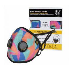 Eume Protect+ Pro 95 Многоцветна защитна антибактериална маска с 2 клапана