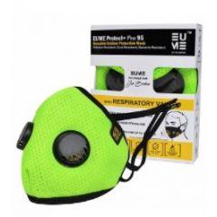 Eume Protect+ Pro 95 Защитна антибактериална маска с 2 клапана зелена