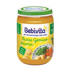 Bebivita пюре от различни зеленчуци без глутен 6М+ 190 гр