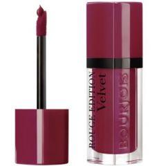 Bourjois Rouge Edition Velvet Lipstick Дълготрайно матиращо течно червило N08 Grand Cru 7,7 мл