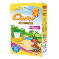 Слънчо Млечна каша бананова 11 витамина без глутен 4М+ 200 гр