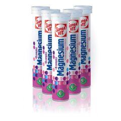 SupraVit Magnesium + B-complex енергия за ума и тялото 20 ефервесцентни таблетки 5 бр Kendy Pharma Комплект