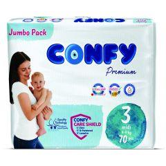 Confy Premium Размер 3 Midi Jumbo Pack 70 бр