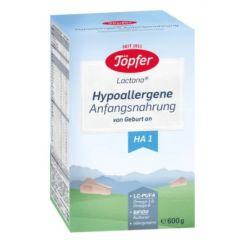 Lactana HA 1 Хипоалергенно сухо мляко за кърмачета с 4 вида бифидобактерии  0M+ 600гр Topfer