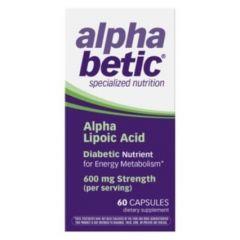 Alpha betic Алфа липоева киселина 200 мг 60 капсули Enzymatic Therapy