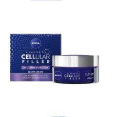 Nivea Cellular Filler + Volume Нощен крем против бръчки 50 мл