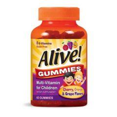 Nature's Way Alive Children's Chewable Multi-Vitamin Алайв мултивитамини за деца 60 дъвчащи таблетки