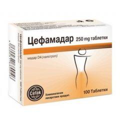 Цефамадар при наднормено тегло 100 таблетки Cefak