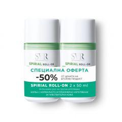 SVR Spirial Рол-он дезодорант против изпотяване с 48-часова ефективност 2 х 50 мл Комплект