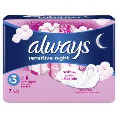 Always Sensitive Ultra Night Дамски нощни превръзки х7 бр