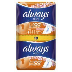 Always Sensitive Ultra Normal Plus Дамски превръзки х18 бр