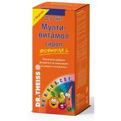Dr. Theiss Мултивитамол Формула L Сироп за нормално функциониране на имунната система x200 мл