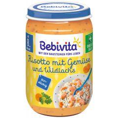 Bebivita пюре ризото със зеленчуци и дива сьомга 8М+ 220 гр